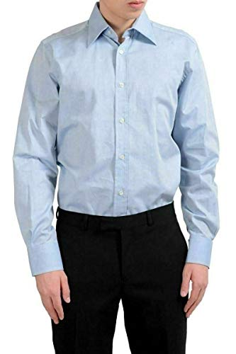 Dolce & Gabbana Men's Blue Long Sleeve Dress Shirt US 15.75 IT 40