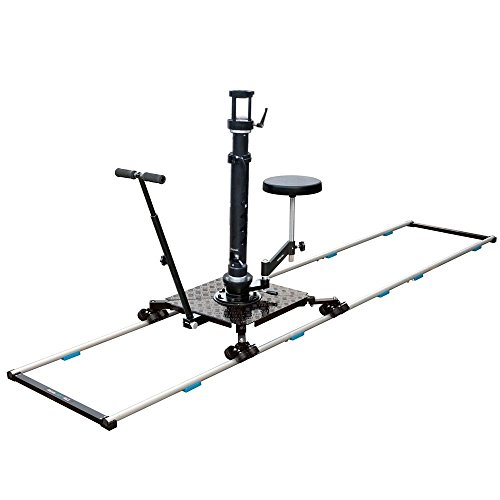 New! PROAIM Supreme Professional Cinema Dolly + 12ft Straight Track, Bazooka, Seat + Flight Cases   Heavy-duty Aluminum Dolly for video movie film production for cameras up to 150kg/330lb (DL-254-00) by PROAIM