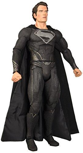 """NECA Black Suit Man of Steel 18"""" Deluxe Superman Action Figure 1:4 Scale"""
