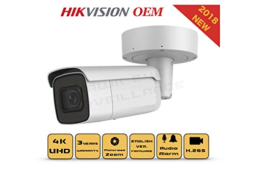 (4K PoE Security IP Camera - Compatible with Hikvision DS-2CD2685FWD-IZS UltraHD 8MP Vari-Focal EXIR Bullet Onvif Weatherproof 2.8-12mm Motorized Lens Best Home Business Security 3 Year Warranty)