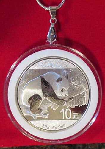 (Panda Pendant, 2016 Chinese 30 gram .999 Fine Silver Coin + 24
