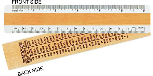 Woodrow 6 inches  & Metric 2 Bevel Wood Ruler
