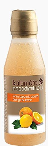 (Kalamata White Balsamic Cream with Orange &Lemon 250ml 8.45oz)