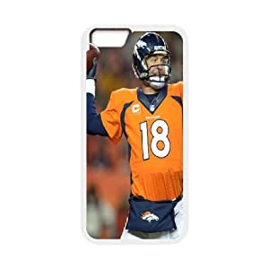 High Quality Phone Back Case Pattern Design 6Peyton Manning Classical Seires- For Apple Iphone 6 Plus screen Cases