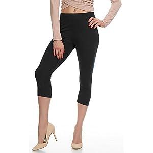 Lush Moda Extra Soft Capri Leggings - Variety of Colors - Black One Size fits Most (XS - XL)