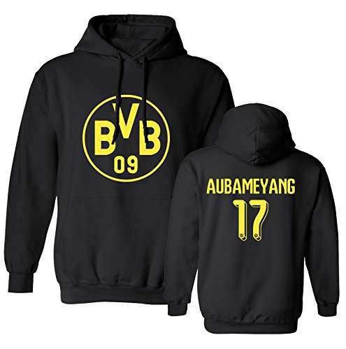 Tcamp Borussia Dortmund Shirt Pierre Emerick Aubameyang #17 Jersey Men's Hooded Sweatshirt