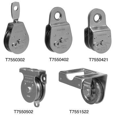 """Campbell T7550401 1-1/2"""" Fixed Eye Single Sheave Heavy Duty Steel Pulley"""
