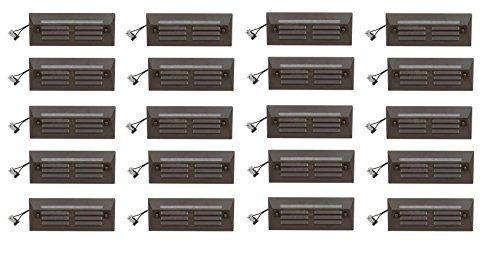 20 Pack Malibu / Proscapes 8608-0408-20 LED Full Brick Step Deck Lights, .3 watt, Low Voltage in Aged Brass Finish BY MALIBU DISTRIBUTION by Malibu C