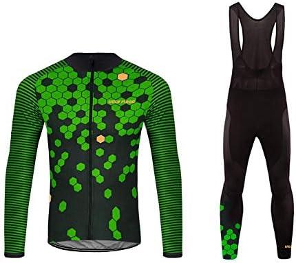 d25b1e2c35d4 Uglyfrog Nuovo Moda Set Completo Abbigliamento Ciclismo da Uomo Maglia con  Lunghe Maniche Tuta + Pantaloni Lunghi di Ciclismo Ciclismo Jerseys per  Uomo ...