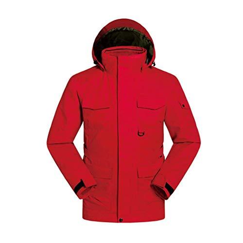 Red Pour Combinaison Gjfeng Homme Air Amovible Pêche Ski Vêtements Doublure Pièces Attraper Polaire Veste Plein Deux Costume De Alpinisme 855qU