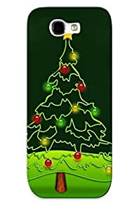 Awesome IIZPwBb6086Krtbp Loungeraqoz Defender Tpu Hard Case Cover For Galaxy Note 2- Christmas Tree Outlines