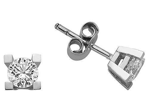 Boucles d'Oreilles Diamants Solitaires 0.76 Carat-Femme- or Blanc 223E0009