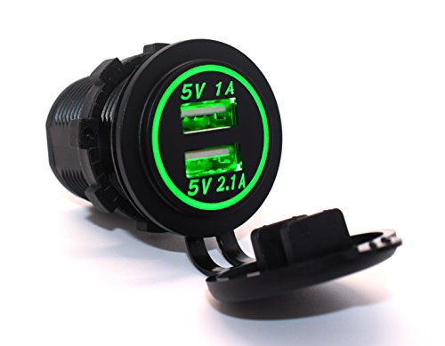 cllena-dual-usb-charger-socket-power-outlet-1a-21a-for-car-boat-marine-mobile-31a-green