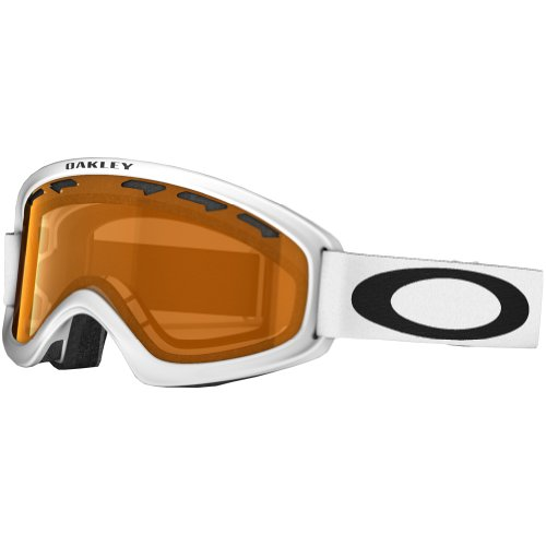 Oakley 02 XS Snow Goggle, Matte White with Persimmon - Goggles White Oakley