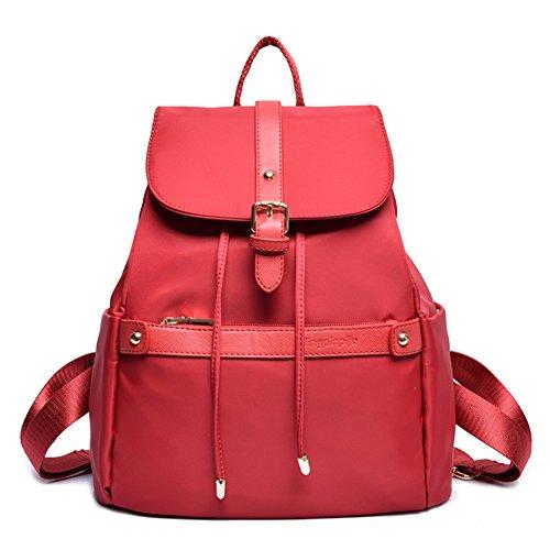 La Sra versión coreana de la mochila/Colegio viento bolsas de viaje de la moda minimalista-A D