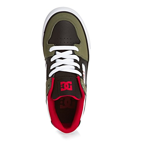 Pure DC Shoes Garçon OLIVE Basses BLACK Sneakers vvPwrx