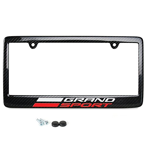 Corvette License Plate Frame – Real Carbon Fiber : C7 Grand Sport Stingray LT1 Exterior Accessory