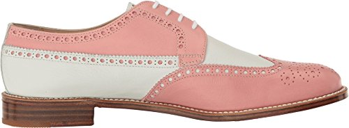 Gravati Womens Calf Leather Wing Tip Pink/White ZSFvsmppx