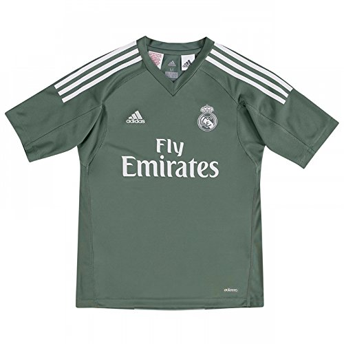 adidas Real Madrid Kids Home Goalkeeper Shirt 2017/18-9-10 -