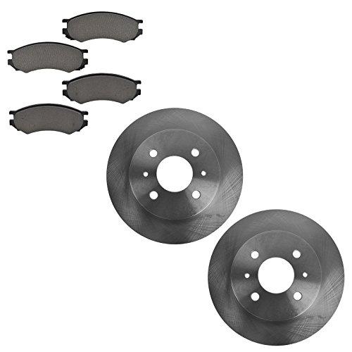 91 Sw Brake - Front Metallic Brake Pads & Rotors Kit Set for 91-02 Saturn SL SC SW