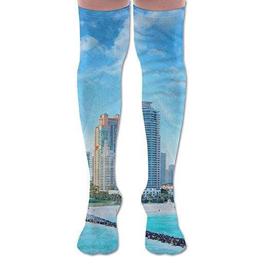Miami City 60 Full Socks For Women And Men - Best Medical, Nursing, Travel & Flight Socks - Running & - Downtown Fl Miami
