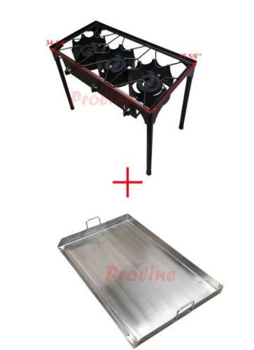 Amazon.com: Triple quemador de propano estufa portátil + 35 ...