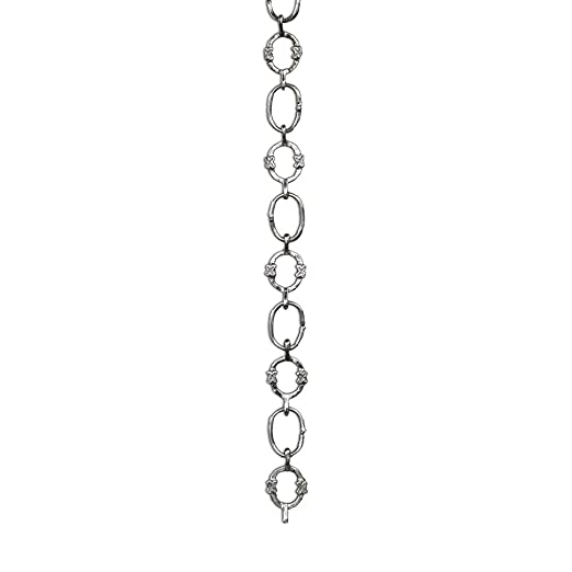 Lighting-Ovals with Circular Connecting Rings and Unwelded Links RCH Hardware CH-14-AB-3 Decorative Antique Solid Brass Chain for Hanging 3 ft//1 Yard