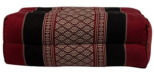 Thai Positioning Pillow - NRG Thai Positioning Pillow, 15 x 7-1/2 x 5 Inches, Thai Positioning Pillow for Mattress Cushion Pillow Massage, Yoga and Meditation (Black/Red)