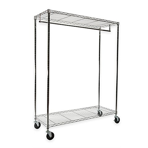 Extra-Wide Heavy Duty Garment Rack in Chrome by Generic