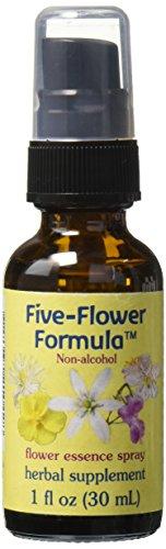 Flower Essence Services Five Flower Formula in Glycerin Spray, 1 Ounce - Five Flower Formula Spray