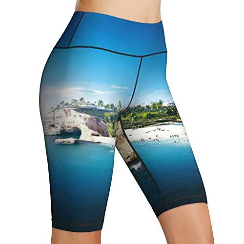 Hoge Taille Yoga Shorts Jefaira Strand Middellandse Zee Noordkust Vrouwen Bike Shorts Yoga Workout Running Compressie…