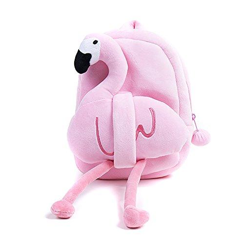 PickUrStyle Toddler Backpack Kids backpack Cartoon Kawaii Flamingo Plush School Bag