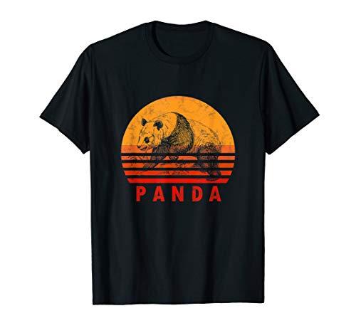 (Vintage Panda Bear Shirt Retro Pandas Lover Gift Women Kids)