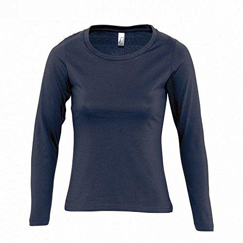 SOLS- Camiseta de manga larga Majestic para chica/mujer Negro intenso