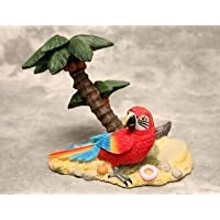 Red Parrot and Palm Tree Wine Bottle Holder