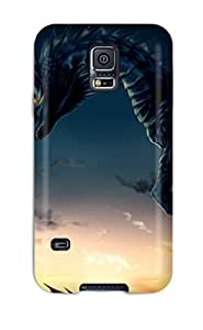 Flexible Tpu Back Case Cover For Galaxy S5 - Night Dragon
