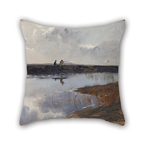 Artistdecor Oil Painting Adrian Stokes - Hunters On The Moor North Of Skagen Throw Cushion Covers 20 X 20 Inches / 50 By 50 Cm For Couch,shop,valentine,birthday,dining Room,seat With Both - Glider Stoke