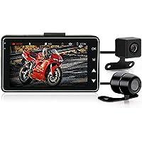 Cámara de 3 pulgadas 1080P HD para motocicleta DVR con grabadora especial de doble pista delantera trasera para moto…