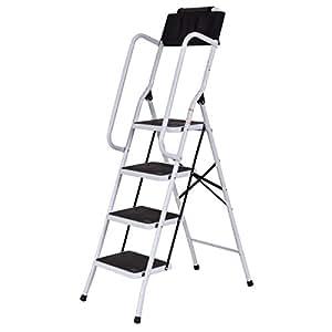 Amazon Com Giantex 2 In 1 Non Slip 4 Step Ladder Folding