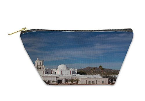 Gear New Accessory Zipper Pouch, Tucson San Xavier Mission, Small, - Indian Store Tucson