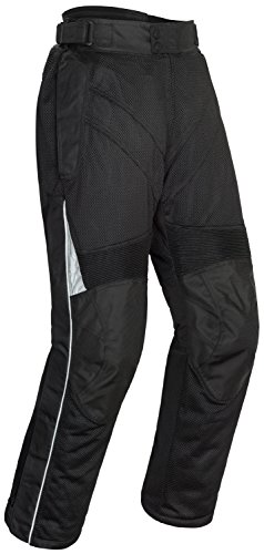 (Tour Master Venture Air 2.0 Mens Mesh Street Motorcycle Pants - Black / Short 3X-Large)