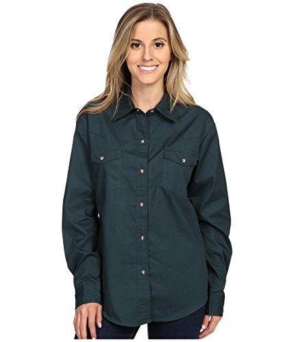 Roper Women's L/S Solid Basic Snap Front, Green, SM for sale  Delivered anywhere in USA