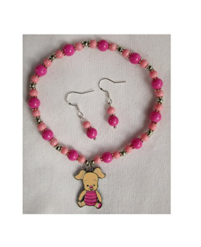 - Disney Piglet Beaded Charm Bracelet & Earrings, RETAIL TAGGED & GIFT BOXED