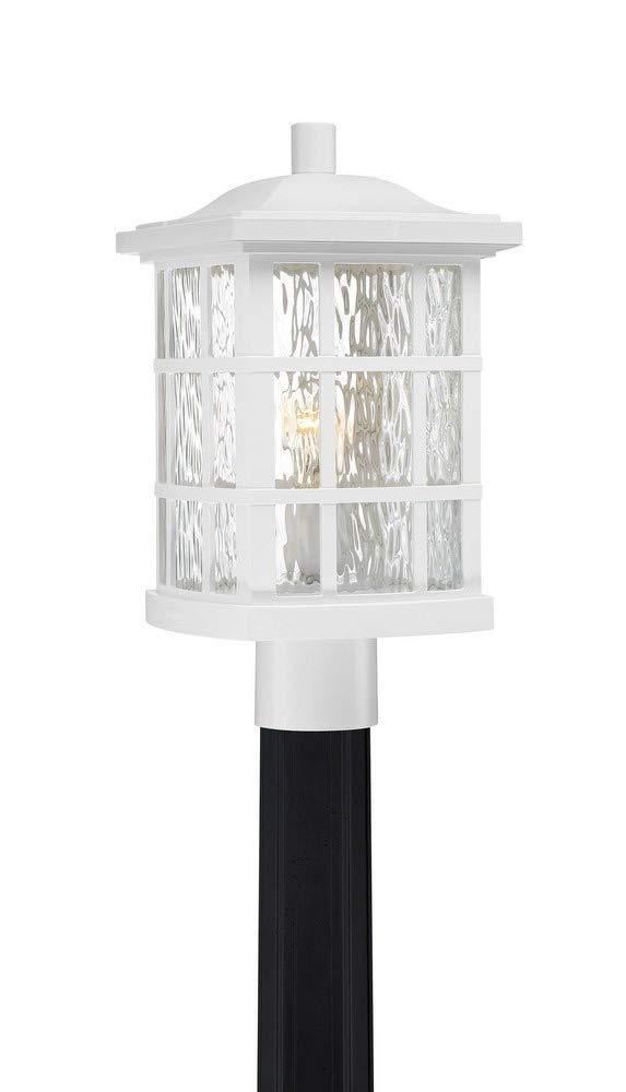 Quoizel SNN9009W Stonington 1-Light Outdoor Lantern, Fresco