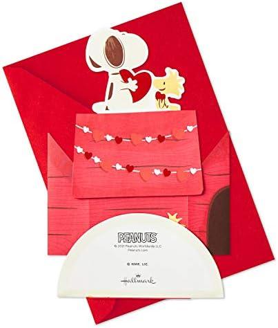 Hallmark Paper Wonder Peanuts Pop Up Valentines Day Card (Snoopy and Woodstock) (599VFE2085)