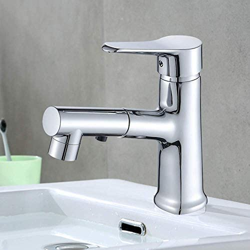 ZJN-JN 蛇口 美しく、耐久性のある真鍮プル流域の蛇口ホットとコールド蛇口バスルームのトイレの上カウンター盆地の蛇口 台付