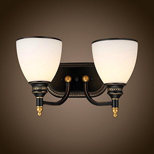 H&M Lampada Da Parete Creativo personalità interna doppia testa vetro battuto ferro lampada da parete