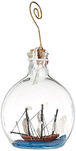 (Hampton Nautical Santa Maria Model Ship in a Glass Bottle Christmas Ornament, 4