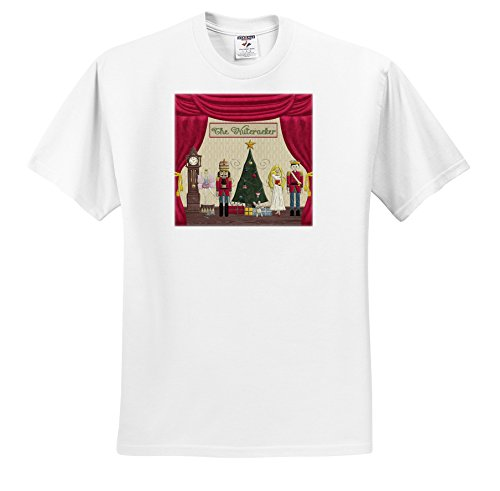 Beverly Turner Christmas Design - Nutcracker Prince, Sugar Plum Fairy, Mouse King, Snow Queen, Clock - T-Shirts - Youth T-Shirt Small(6-8) (ts_223585_12)