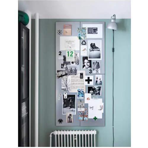 Ikea Spontan Pizarra magnética en Color Plateado de 37 x 78 cm